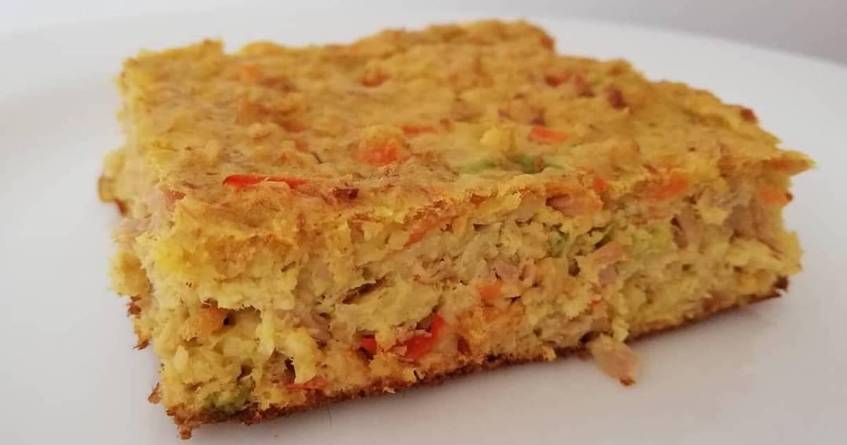 Torta de Atún y Avena en hojuelas